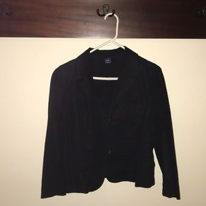 Gap black linen blazer
